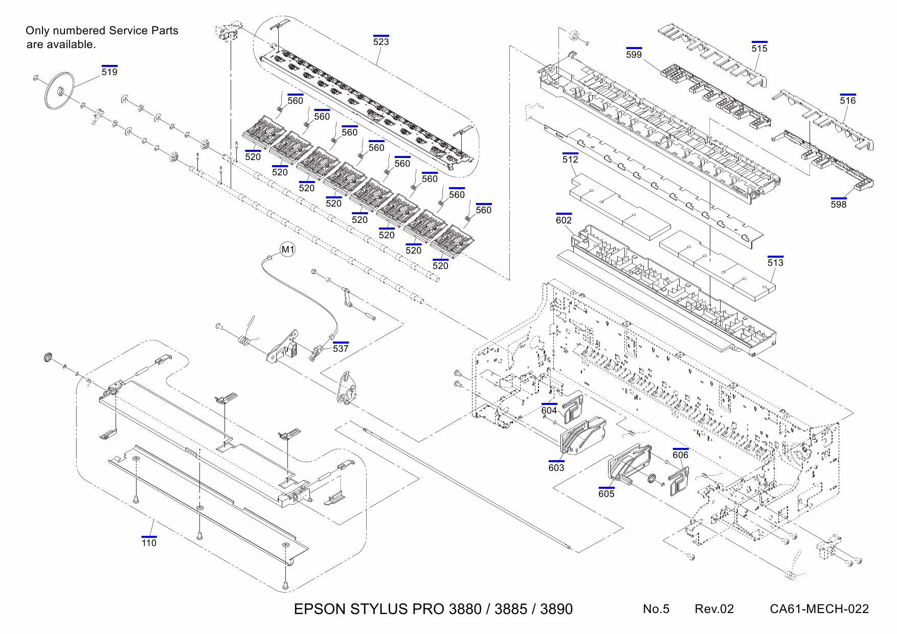 EPSON StylusPro 3880 3885 3890 Parts Manual
